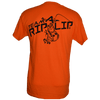 CLOSEOUT:  Team Logo Short Sleeve T-Shirt Safety Orange with Navy Team Logo (Small & Medium Only)