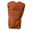 CLOSEOUT: Triple R Rip A Lip Poly HD Long Sleeve Performance Dri-Wear Shirt Copper & Brown (Small, Medium & Large Only)