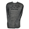 CLOSEOUT: Triple R Rip A Lip Poly HD Long Sleeve Performance Dri-Wear Shirt Heather Gray/Black (Medium & Large Only)