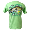 CLOSEOUT: Fresh Water Walleye Short Sleeve Rip A Lip T-Shirt Mint (Small & Large Only)