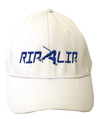 CLOSEOUT:  White & Royal Blue Performance Rip a Lip Cap