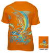 CLOSEOUT:  Marlin - Youth Safety Orange Short Sleeve Graphic Tee ( XXS Only)