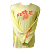 CLOSEOUT: Rip A Lip Logo Poly HD Long Sleeve Performance Dri-Wear Shirt Yellow & Orange Mineral Wash (Large Only)