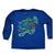 Youth - Speckled Trout Long Sleeve Polyester Performance Jersey Knit Shirt Royal Blue(X-Large Only)