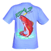 CLOSEOUT: Redfish - Youth Powder Blue Short Sleeve Graphic Tee (Medium & X-Large Only)