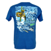 CLOSEOUT:  Reel Work Fishing Short Sleeve T-Shirt Royal Blue