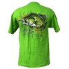 CLOSEOUT: Crappie Short Sleeve Rip A Lip T-Shirt Lime Green (Large Only)