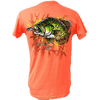 CLOSEOUT: Crappie Short Sleeve Rip A Lip T-Shirt Heather Coral (Small Only)