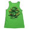 Salt Water Trinity Rip a Lip Tank Top Neon Green