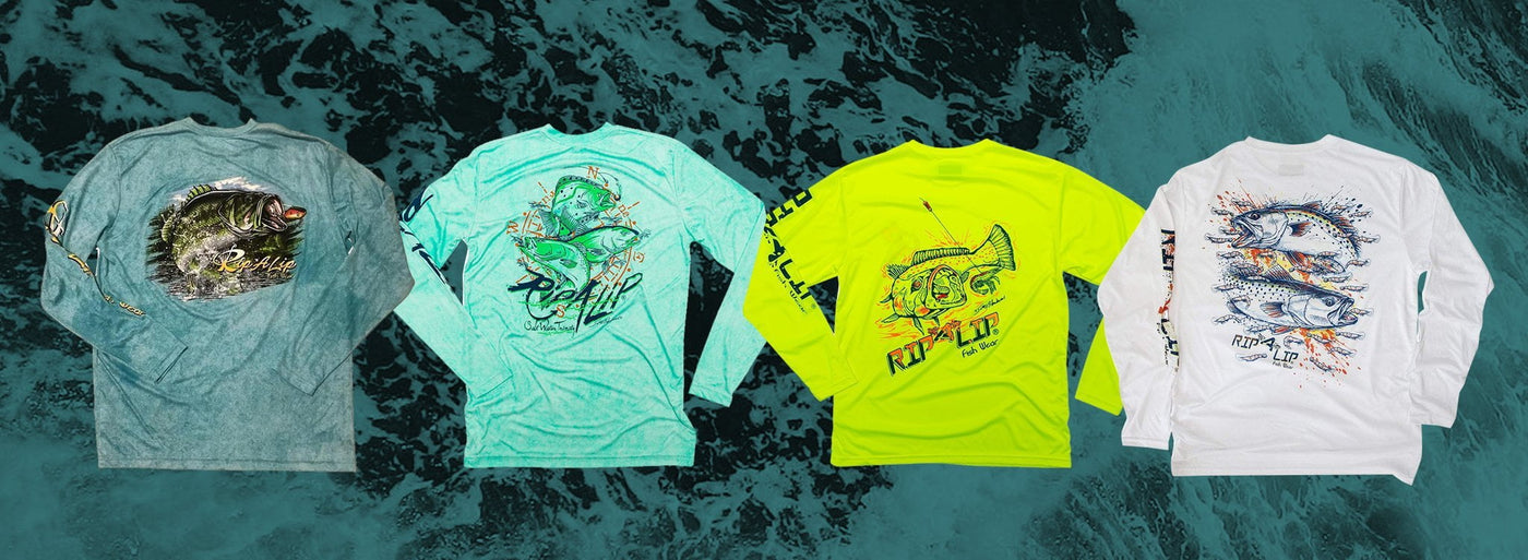 Poly hd solar shirts for Rip a lip fish wear