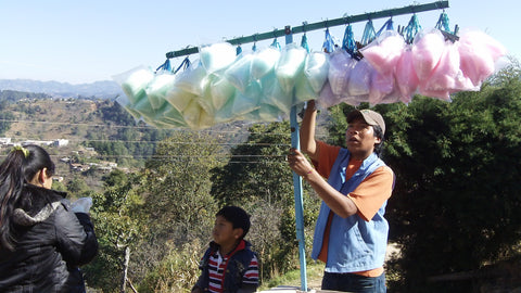 cotton candy in guatemala