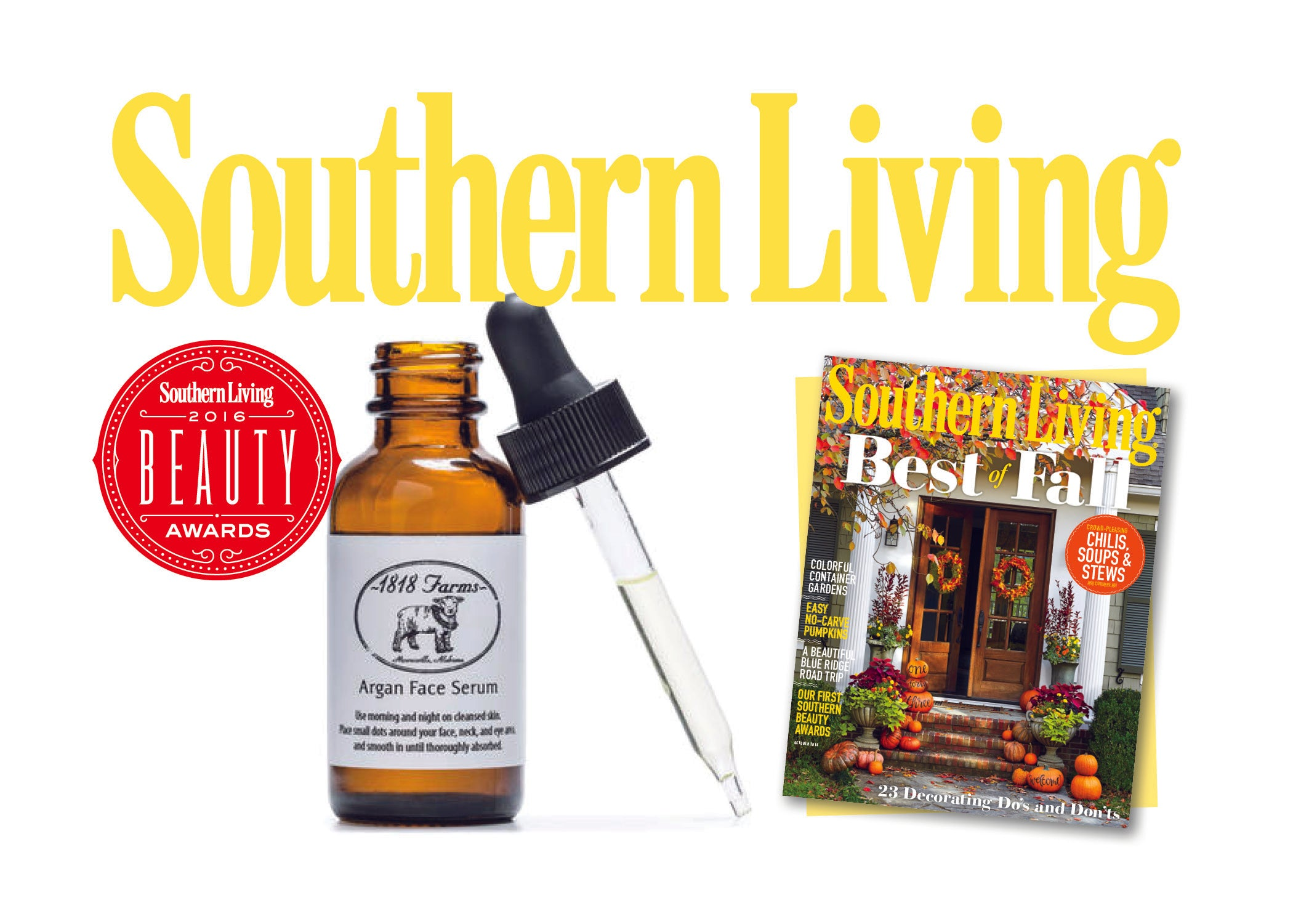 1818 Farms' Argan Face Serum Featured in Southern Living