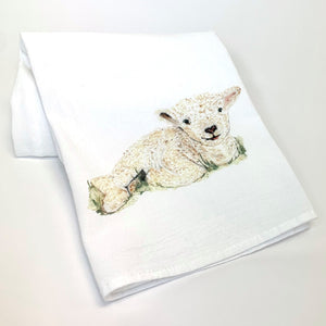 Flour Sack Towel featuring Sugar's Baby Lamb