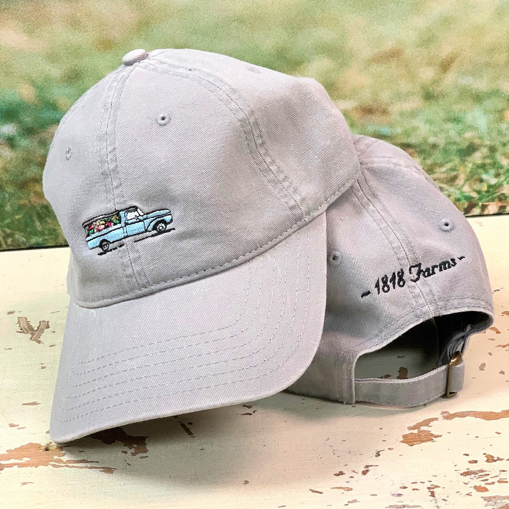 Embroidered Flower Truck Cap
