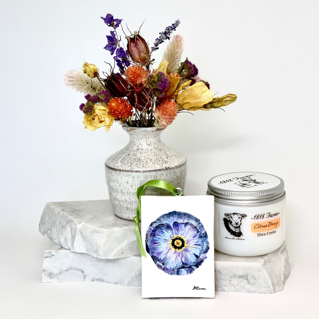 Seed to Vase Dried Flower Gift Box with Poppy Canvas