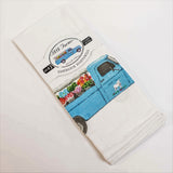 Flour Sack Towel Set featuring the 1818 Farms Flower Truck