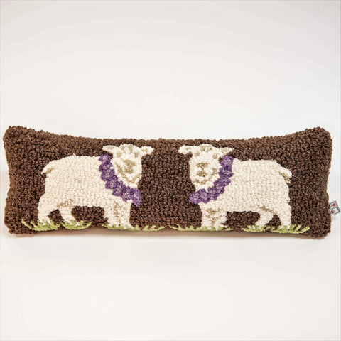 Hand-Hooked Wool Pillow
