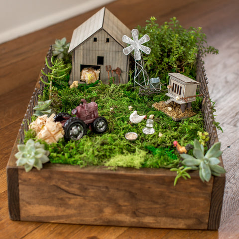Miniature Farm Themed Fairy Garden Workshop (For Adults)