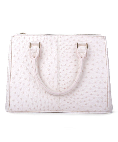 Blush Ostrich Tote Bag