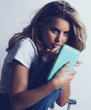 Caggie Dunlop with ISWAI Clutch Wallet