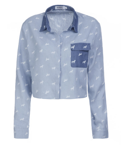 Denim Print Shirt