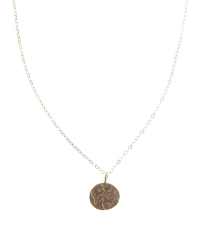 Gold Earth Pendant Necklace