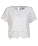 ISWAI Womens Floral Lace Top