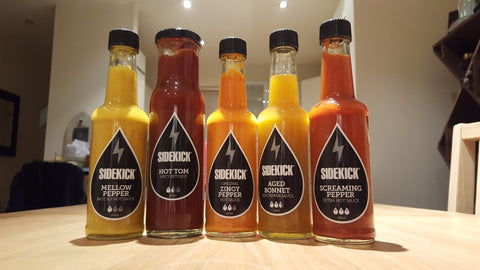 Sidekick Hot Sauce Range