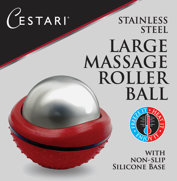 Cryosphere Massage Ball Hot Cold Roller Ball - Fast Muscle Pain Relief - Stainless Steel Balls for Heat or Ice Therapy - Feet Pain - Plantar Fasciitis- Back Ache - Foot Massager - 60 mm Ice Roller