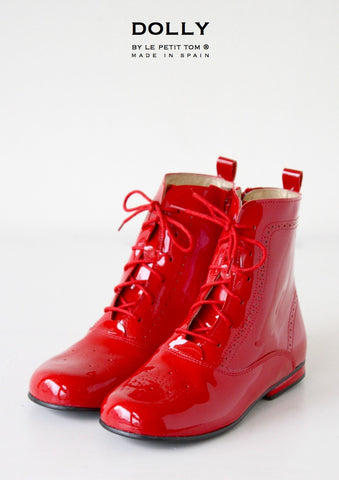 DOLLY Classic Doll Boot in red