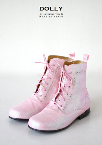 DOLLY Classic Doll Boot in pink glitter