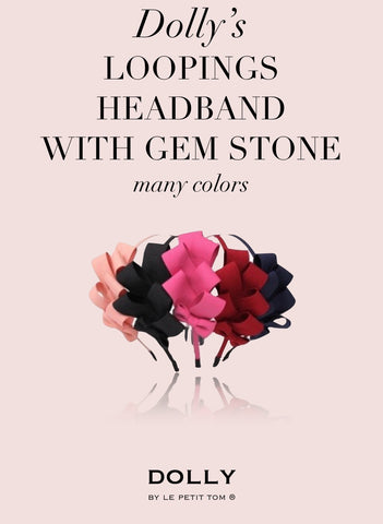 DOLLY Loopings headband with gem stone