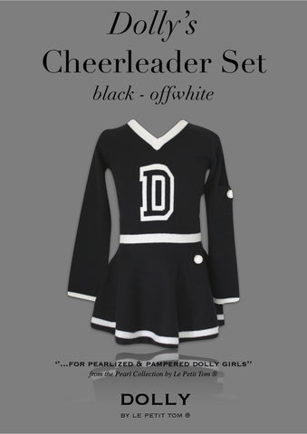 DOLLY Cheerleader Set in black & off-white