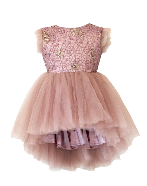 DOLLY - Drama Dress dusty pink