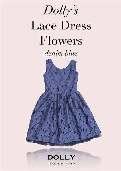 DOLLY Lace dress in denim blue