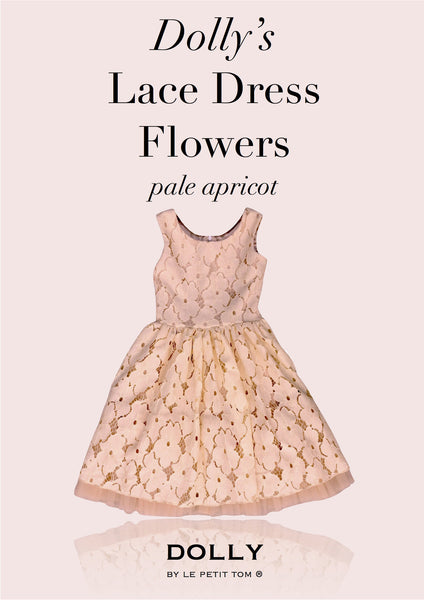 DOLLY Lace dress in pale apricot