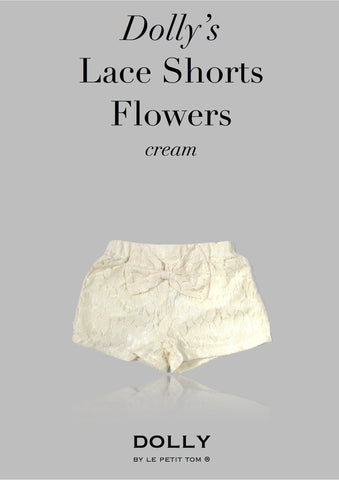 DOLLY Lace shorts in cream