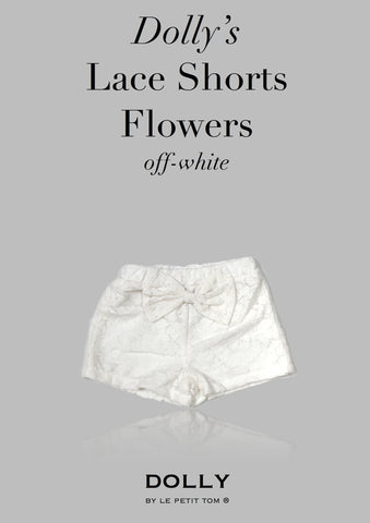 DOLLY Lace shorts in off-white