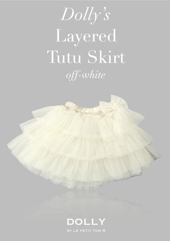 DOLLY Layered Tutu skirt in off-white