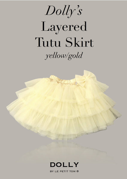 DOLLY Layered Tutu skirt in yellow/gold