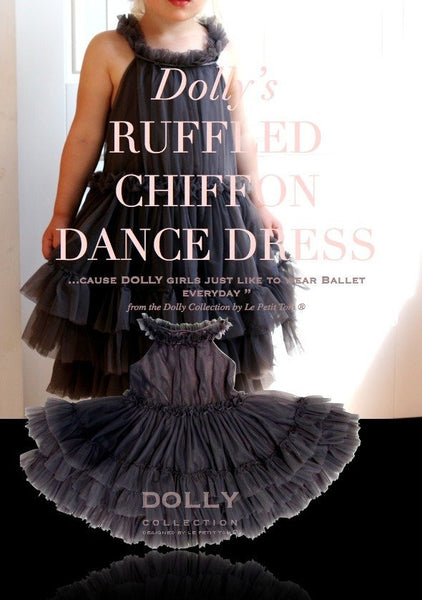 DOLLY - Ruffled Chiffon Dance Dress