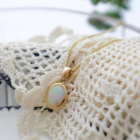 Bespoke Opal and Gold Pendant Necklace