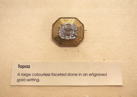 Colourless Topaz Brooch