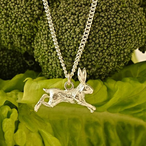 Our Sterling Silver Hare Necklace