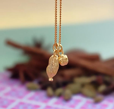 Clove and Cardamom Vermeil Necklace
