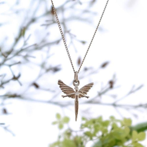 Silver Focus Fairy Necklace