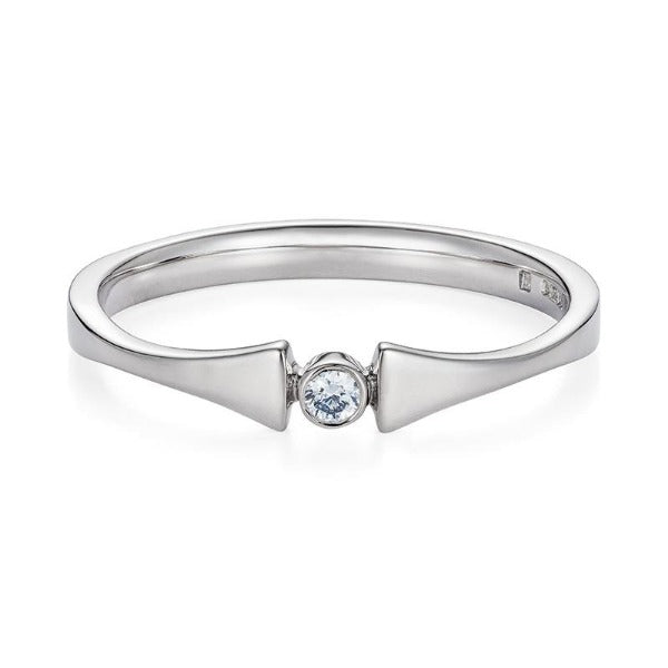 Empress Matilda, Fairtrade 18 carat White Gold Engagement Ring