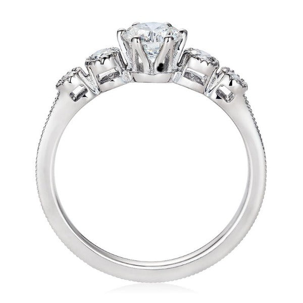 Queen Eleanor, 18 carat White Gold Fairtrade Engagement Ring