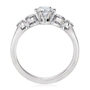 Queen Eleanor, Fairtrade 18 carat White Gold Engagement Ring