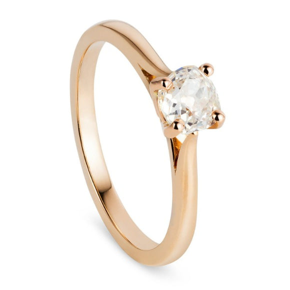 Rose Gold Sustainable Engagement Ring 0.58ct
